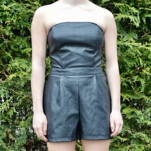 Express Size 4 Leather Romper